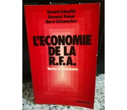 L'economie de la R.F.A. di A.a.v.v,  1983,  Armand Colin -F
