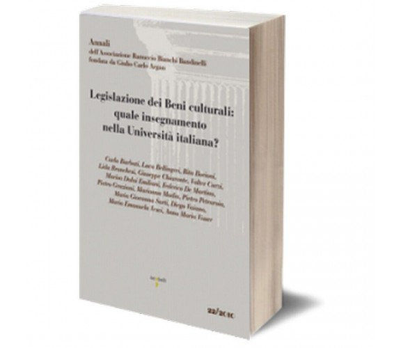 Legislazione dei Beni culturali: quale insegnamento nell'Università italiana?