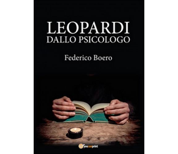 Leopardi dallo psicologo di Federico Boero,  2015,  Youcanprint