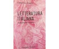 Letteratura Italiana di Parisi,  1982,  Tringale Editore