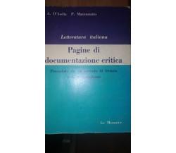 Letteratura italiana Pagine di documentazione critica - A.d'Asdia, P.mazzamuto-S