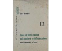 Linee di storia sociale del pensiero e dell'educazione III - Mandolfo - Greco-Ca