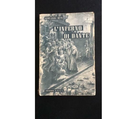 L'inferno di Dante  -Giovanni Buti -1947,  Edizioni C.e.l.i. Bologna - P