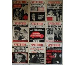 Lo Specchio - Lotto 9 riviste  di Aa.vv.,  1963 - 1964,  Aldo Moro, La Malfa..