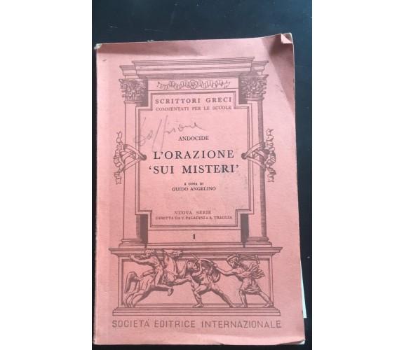 L'orazione sui Misteri - Andocide,  1964,  Società Editrice Internazionale - P