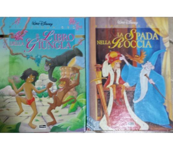 Lotto 2 titoli - Disneyana oro- Il libro della giungla- La spada nella roccia -G