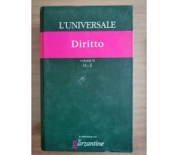 L'universale Diritto vol. II M-Z - Garzanti - 2004 - AR