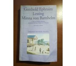 Minna von Barnhelm - Gotthold Ephraim Lessing - Marsilio - 1990  - M