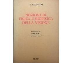 Nozioni di fisica e biofisica della visione (DEDICA AUTORE) - Giannazzo Ca