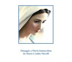 Omaggio a Maria Immacolata di Mario Cesidio Morelli,  2021,  Youcanprint