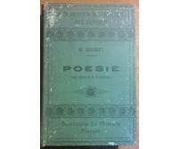 POESIE - GIUSEPPE GIUSTI - Successori Le Monnier, 1911 - L