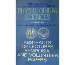 PROCEEDINGS OF THE INTERNATIONAL UNION OF PHYSIOLOGICAL SCIENCE - Aa. Vv. - 1980