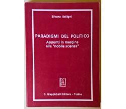 Paradigmi del politico - Silvano Belligni - Giappichelli, 1991 - L