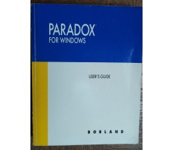 Paradox for Windows - AA.VV. - Borland,1992 - R