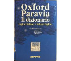 Paravia Il dizionario Inglese-italiano italiano-inglese, 2001, Oxford University