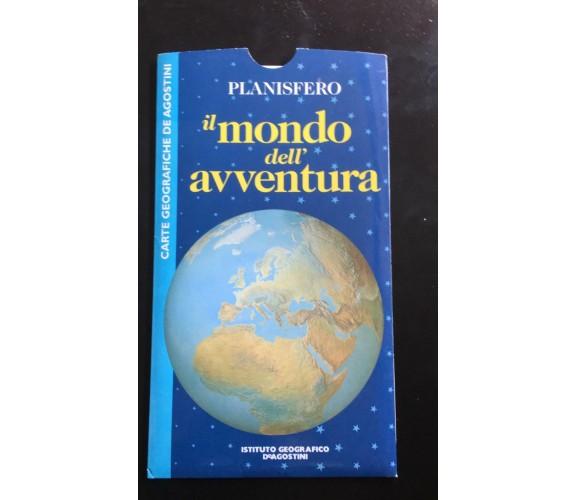 Planisfero il mondo dell'avventura - Istituto Geografico De Agostini - P