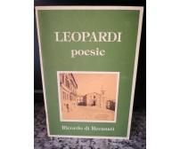Poesie di Leopardi,  Riccardo Di Recanati -F