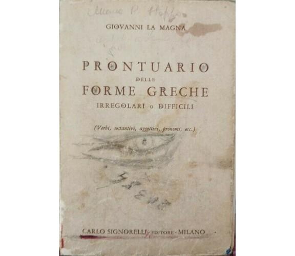Prontuario delle forme greche  di Giovanni La Magna,  1966 - ER