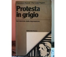 Protesta in grigio Nel labirinto della depressione di Francesco Parenti, 1980,-F