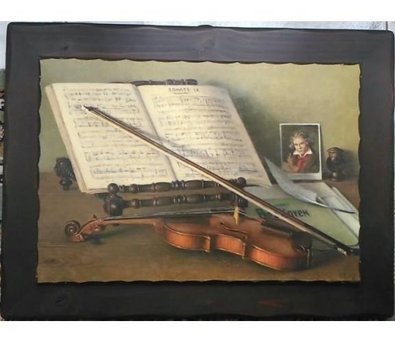 Quadro con soggetto Beethoven, Musica- 50x35