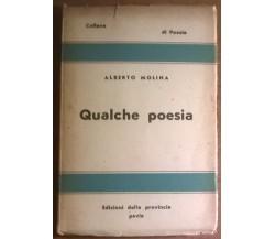 Qualche poesia - Alberto Molina - 1949, Edizioni Della Provincia Pavia - L