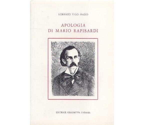 RAPISARDI - Vigo-Fazio - Apologia di Mario Rapisardi, 1983