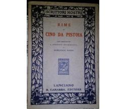 Rime di Cino da Pistoia-Domenico Fiodo,1913,Editore R.Carabba - S