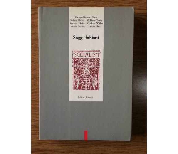 Saggi fabiani - Editori Riuniti - 1990 - AR