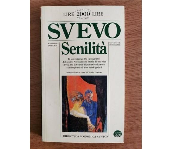Senilità - I. Svevo - Newton - 1994 - AR