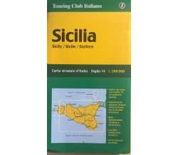 Sicilia, Carta stradale d'Italia di Aa.vv., 2005, Touring Club Italiano