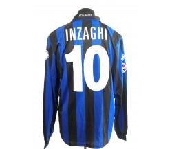 Simone Inzaghi Atalanta. Maglia preparata match issued 2009-2010