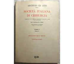 Società italiana di chirurgia 6 Vol. di Prof. Gianfranco Fegiz, 1980, CLUEB