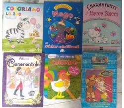 Stock 10 titoli per bambini; Hercules, Colorare, Cenerentola, Attacca stacca...