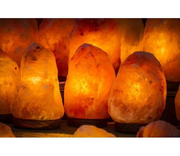Stock 60 lampade di sale di salgemma originale Himalaya 2-3 KG