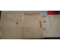 Stock di 20 documenti + marche da bollo firme e timbri della prima metà del '900
