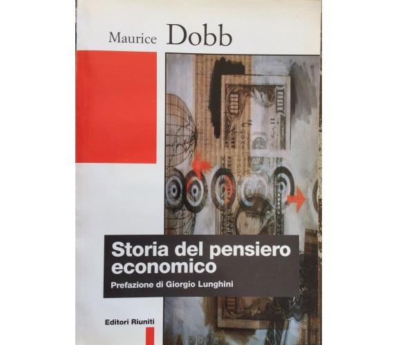 Storia del pensiero economico - Maurice Dobb,  1999,  Editori Riuniti