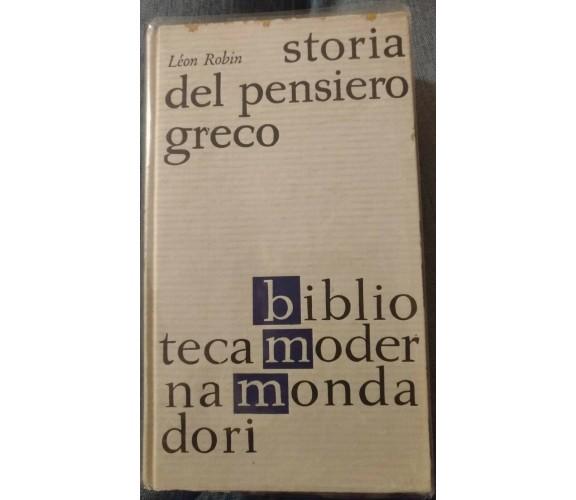 Storia del pensiero greco - Léon Robin, 1962, BMM - S