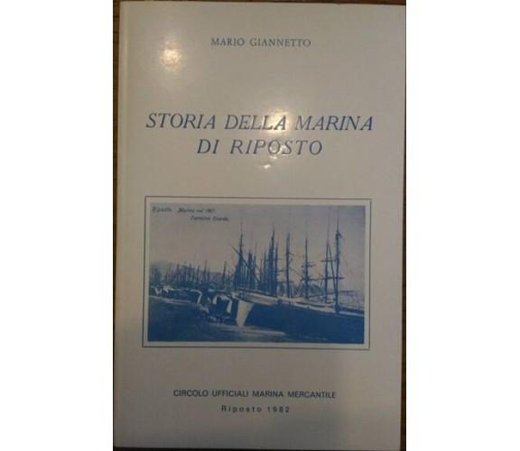 Storia della Marina di Riposto - Mario Giannetto,  1982,  Circolo Ufficiali