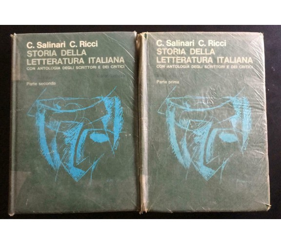 Storia della letteratura italiana - Carlo Ricci, Carlo Salinari,  1975 - P