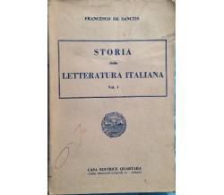 Storia della letteratura italiana - De Sanctis - Quartara - 1950 - MP