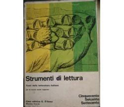 Strumenti di lettura - Cordati - Farina - 1974 - G. D'Anna - lo