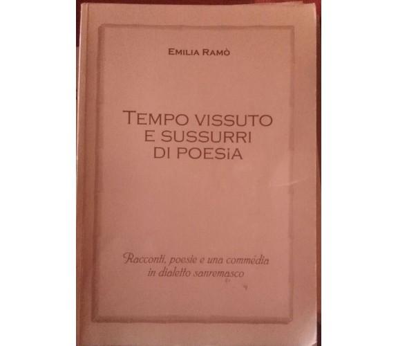 Tempo vissuto e sussurri di poesia-Emilia Ramò,2004,Tipolitografia S.Giuseppe -S