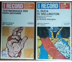 Testimonianza per Papa Giovanni;Il Duca di Wellington-AA.VV.-Arnoldo Mondadori-R