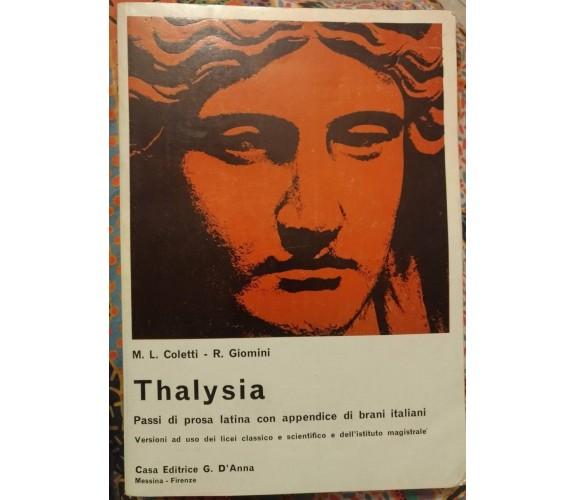 Thalysia - Maria Laetitia Coletti & Remo Giomini,1970,G. D' Anna -S