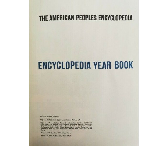 The American People Encyclopedia (Encyclopedia year book 1964) - ER