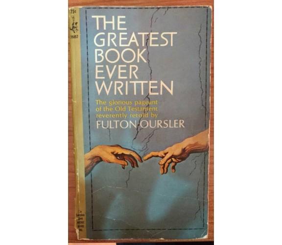 The greatest book ever written - Fulton Oursler, 1966,  Pocket Books  - S