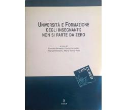 Università e formazione degli insegnanti: non si parte da zero (Forum 2002) Ca