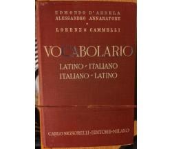 Vocabolario Latino-Italiano Italiano-Latino - AA.VV. - Signorelli Editore,1961-R