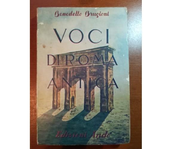 Voci di roma antica - Benedetto Brugioni - Andò - 1952  - M