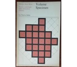 Volume Specimen - Alberto Asor Rosa - La nuova Italia, 1972 - A